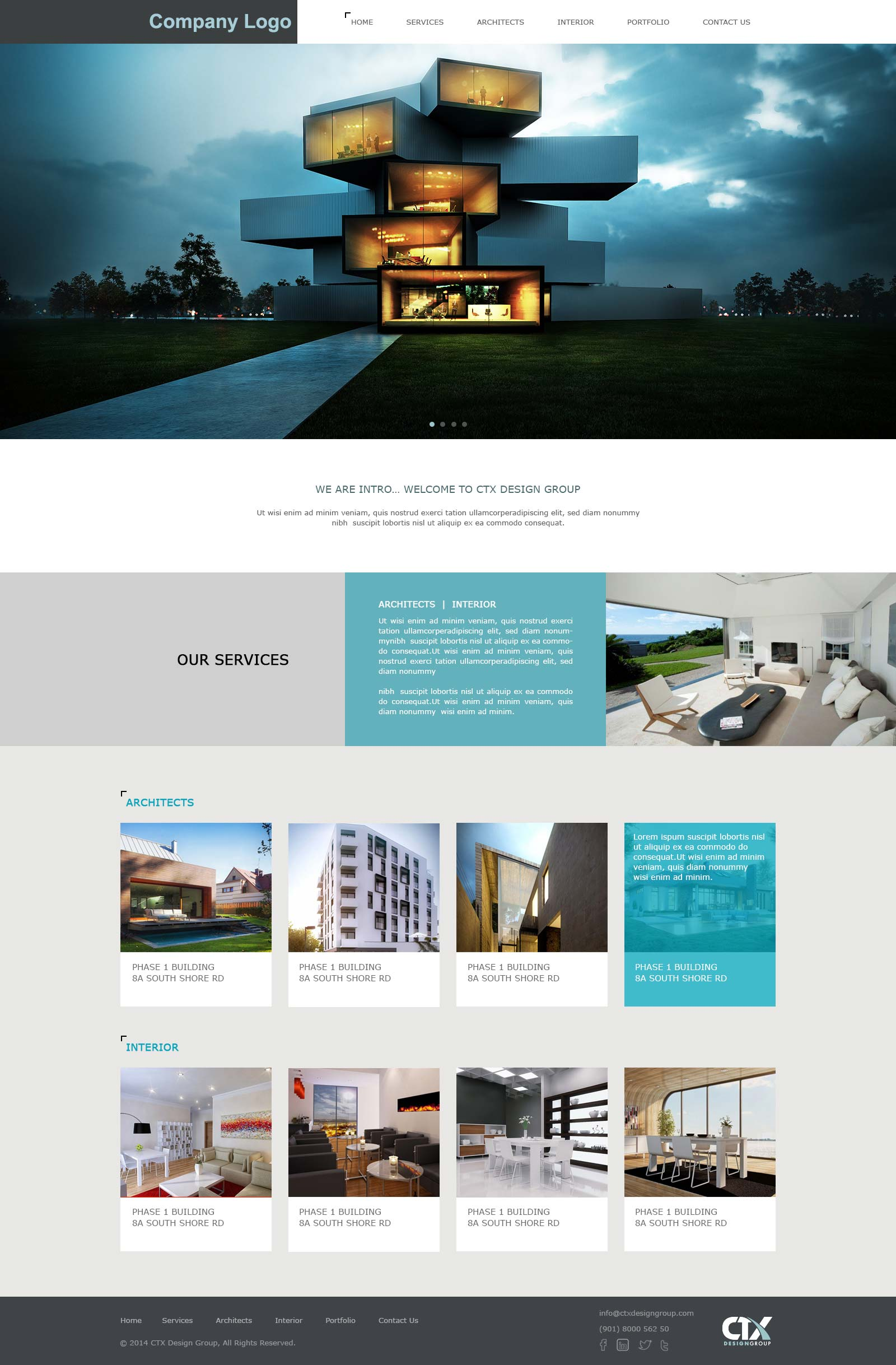 Architecture Interior Designing Website Template Ved Web Services