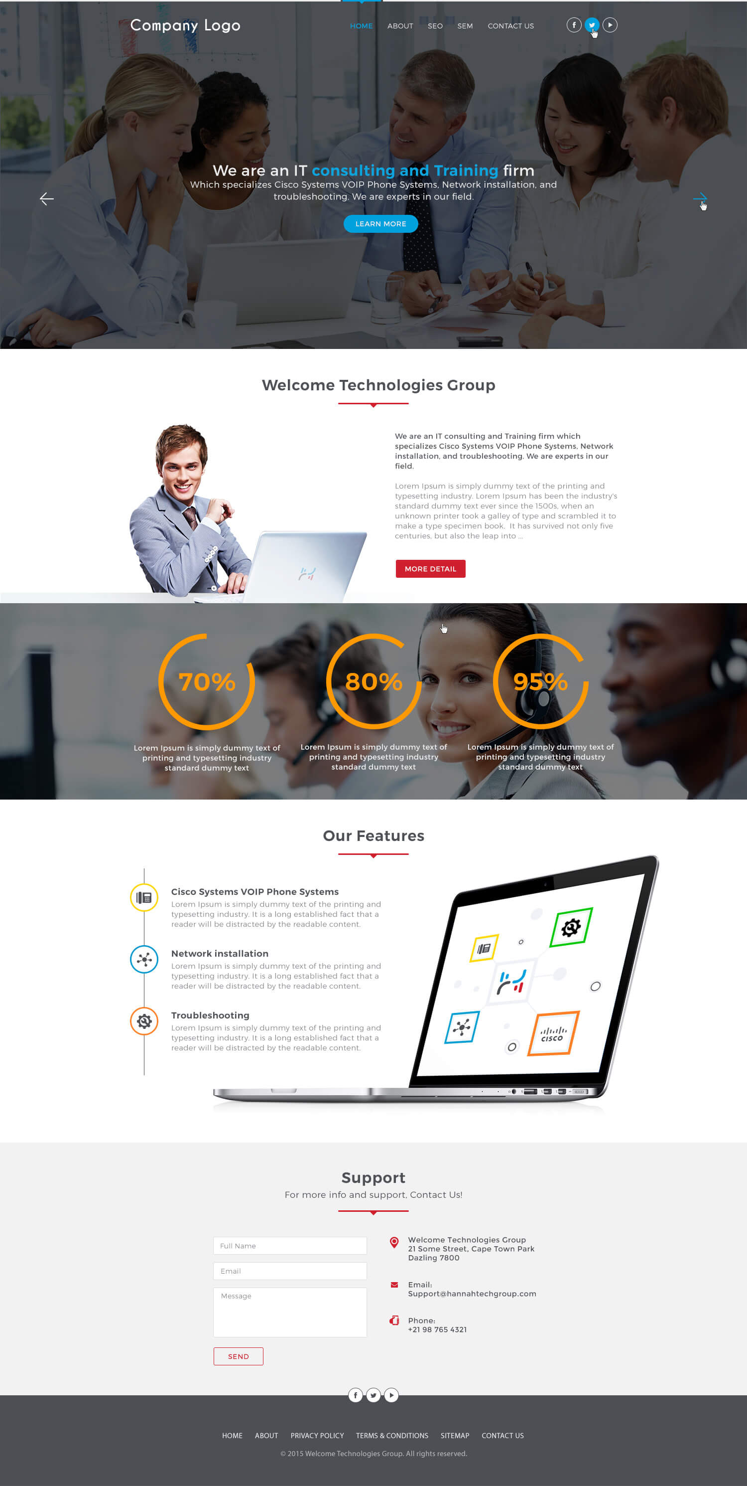 it consultant website template ved web services. Black Bedroom Furniture Sets. Home Design Ideas