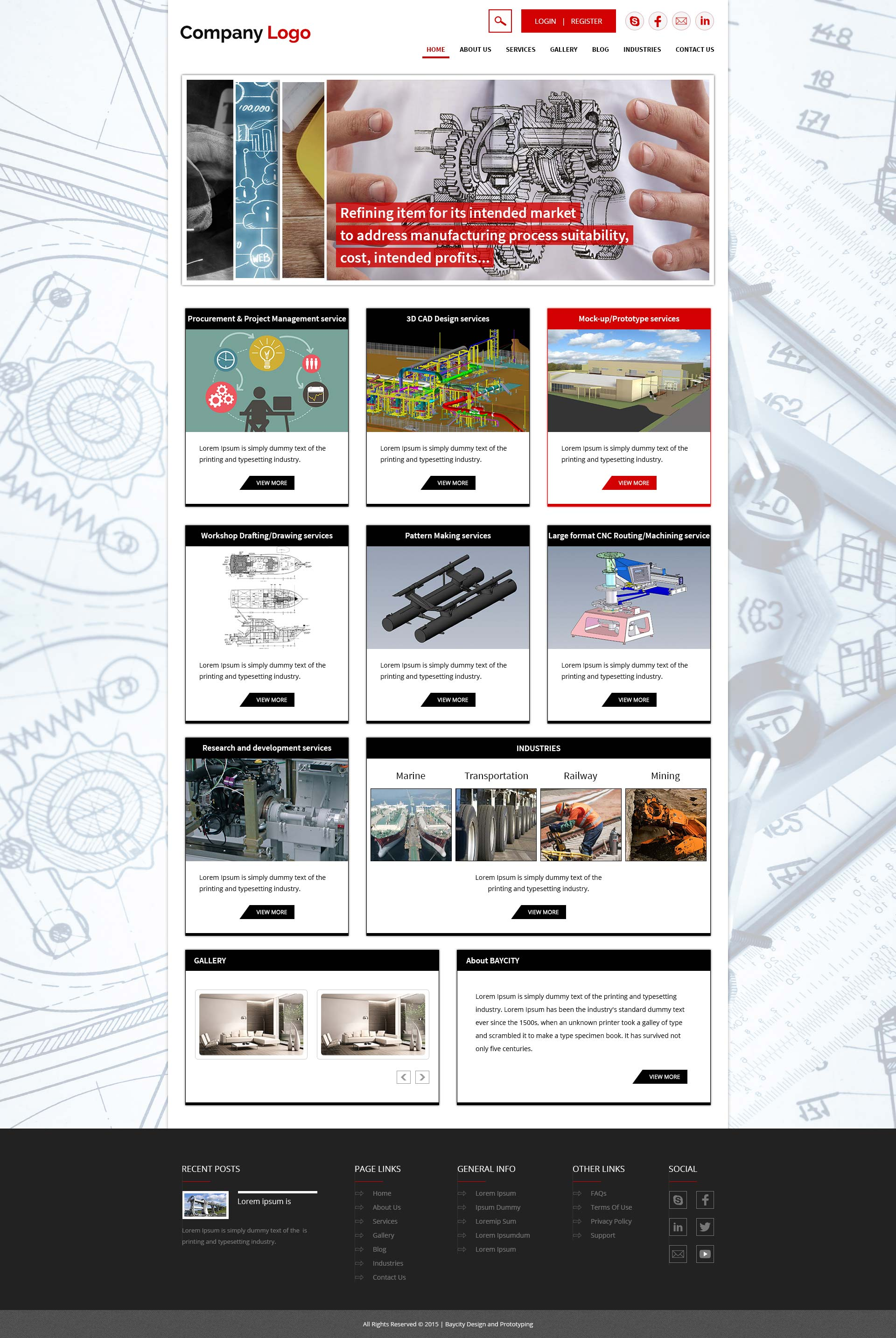Industrial engineering consulting company website for Industrial design consultancy ltd