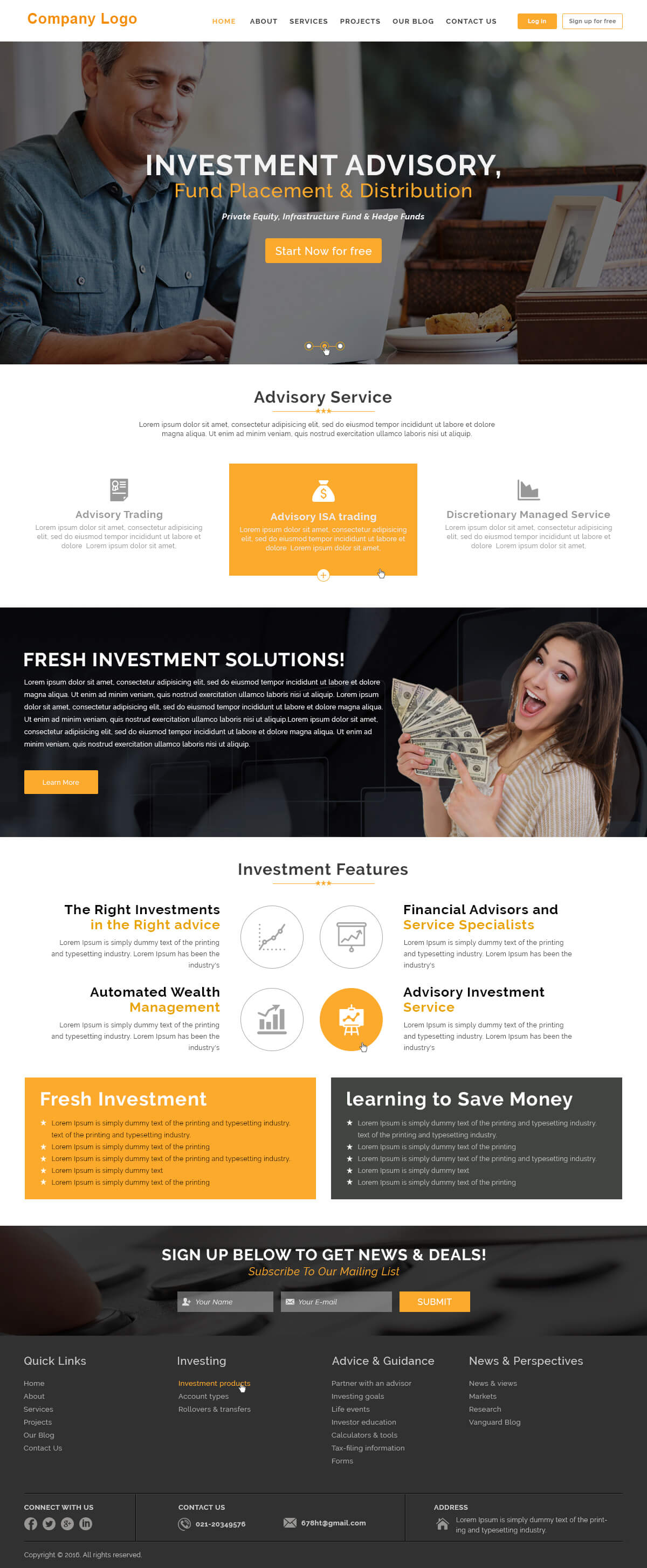 investment company website templates ved web services. Black Bedroom Furniture Sets. Home Design Ideas