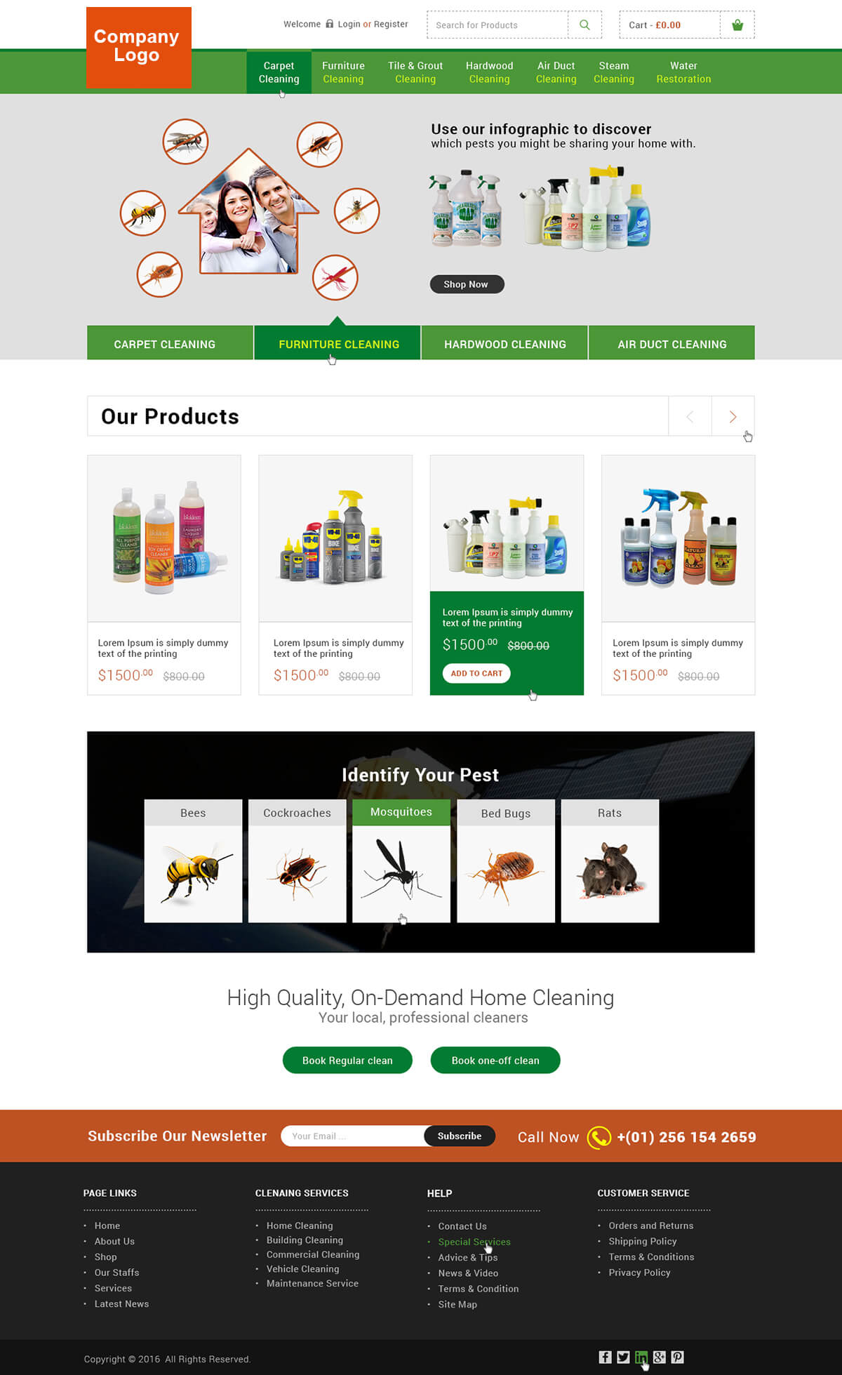 pest control service website template ved web services. Black Bedroom Furniture Sets. Home Design Ideas
