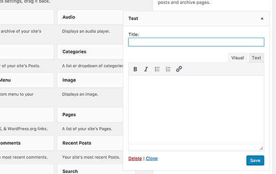 Text Widget For WordPress