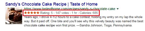 cake recipe Rich Snippet